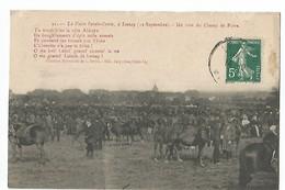 LA FOIRE SAINTE-CROIX A LESSAY , UN COIN DU CHAMP DE FOIRE - France