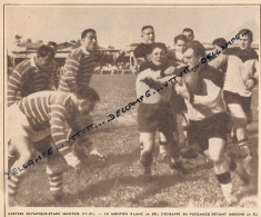 RUGBY : PHOTO, CHALLENGE YVES-DU-MANOIR, CASTRES OLYMPIQUE - STADE MONTOIS (11-21), BLANC, MORENO, COUPURE REVUE (1957) - Rugby