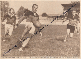 RUGBY : PHOTO, CHALLENGE YVES-DU-MANOIR, STADE TOULOUSAIN - MAZAMET (5-24), FORT, COUPURE REVUE (1957) - Rugby