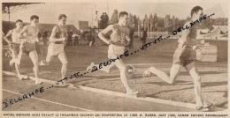 ATHLETISME : PHOTO,  COLOMBES, FRANCE-FINLANDE, NORVEGE, JAZY, BERNARD, SALONEN (1500 M.), COUPURE REVUE (1957) - Athlétisme