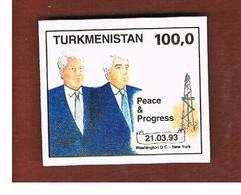 TURKMENISTAN  - SG 22 -   1993 CLINTON & NIYAZOV  DATE 21.3.1993   -   MINT (**) - Turkmenistan