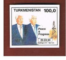 TURKMENISTAN  - SG 23 -   1993 CLINTON & NIYAZOV  DATE 22.3.1993   -   MINT (**) - Turkmenistan