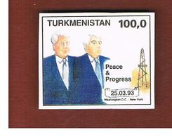 TURKMENISTAN  - SG 26 -   1993 CLINTON & NIYAZOV  DATE 25.3.1993   -   MINT (**) - Turkmenistan