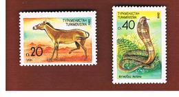 TURKMENISTAN  -  SG 2.3 - 1992 ANIMALS OF CENTRAL ASIA   -   MINT (**) - Turkmenistan