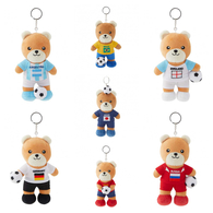 FIFA WORLD CUP 2018 COMPETE SET OF 7 PCS 17cm SOFT TEDDYBEAR MASCOT WITH KEY-RING - BIG C THAILAND LIMITED ISSUE - Apparel, Souvenirs & Other