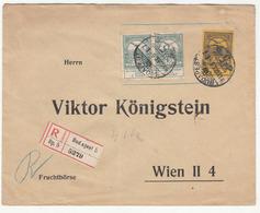 Viktor Königstein Preprinted Letter Cover Travelled Registered 1913 To Wien B180625 - Hungary