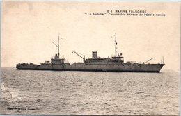 Bâteau - Marine Française - La Somme, Canonnière Annexe De L'Ecole Navale - Guerre