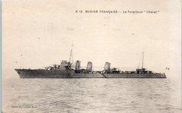 """Bâteau - Marine Française - Le Torpilleur """"chacal"""" - Guerre"""
