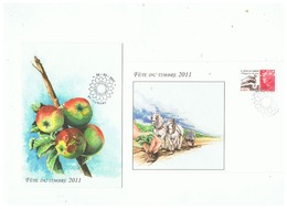 FETE DU TIMBRE 2011 LETTRE PROTEGEONS LA TERRE  + CARTE - FDC