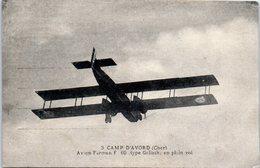Avion - Camp D'Avord - Avion Farman F 60 Type Goliath En Plein Vol - ....-1914: Précurseurs