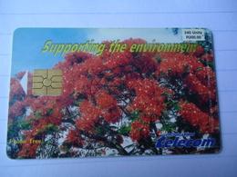 MAURITIUS USED CARDS PLANTS FLOWERS - Mauritius