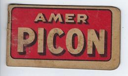 Bloc Papier Petit Carnet Publicitaire Amer Picon Le Curaçao Picon - Old Paper