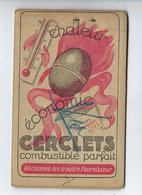 Bloc Papier Petit Carnet Publicitaire Chaleur Économie Cerclet Combustible Parfait Ets Châtel Et Dollfus - Old Paper