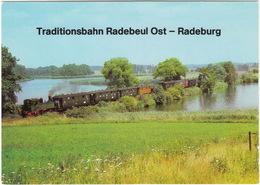 Traditionsbahn Radebeul-Ost - Radeburg - Fahrt über  Den Dippelsdorfer Teich - (DDR) - Treinen