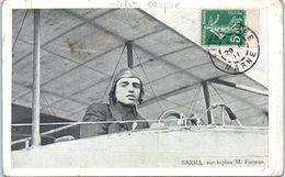 Aviateur - BARRA , Sur Biplan M. Farmau (coupure) - Aviateurs