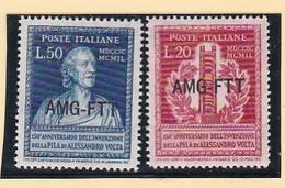 1949 Italia Italy Trieste A  ALESSANDRO VOLTA Serie Di 2v. MNH** - Fisica