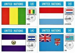 UN New York - Mi-Nr 348/363 Maxicards (S175) - Flaggen
