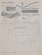 75 20 335 PARIS SEINE 1919 Manufacture Chemises Faux Cols E. MILLET Succ BOURDEAUX Usine A ARGENTON 36 Et PERSAN 95 - France