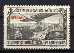 Spain Espana 1931 UPAE 3th Congress Union Postal Panamericana 1 Val Oficial - 1889-1931 Reino: Alfonso XIII