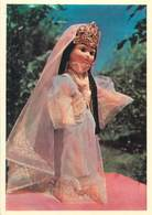 D1359 Folk Costume Dressed Doll Uzbekistan Ceremonial Girl Robe Fergana - Costumi