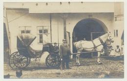 AK  Foto Pferde Kutsche Laut Notiz Wurzbach Gasthof Zum Goldenen Löwen - Wurzbach