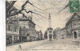 73, Savoie, CHAMBERY, La Colonne Des Eléphants - Le Boulevard,  Scan Recto-verso - Chambery