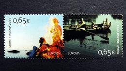 Finnland 1705/6 **/mnh, EUROPA/CEPT 2004, Ferien - Finlande