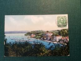 Russian Levant Turkey CONSTANTINOPLE 1914 Romanov On Postcard > Le Bouscat (cover Lettre Turquie Russie Levante Russian - Levant
