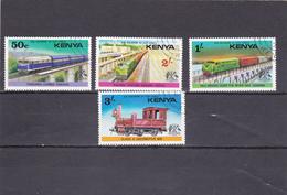 Kenya Oblitéré 1976  N° 58/61  Transport Ferroviaire En Afrique De L'Est - Kenya (1963-...)