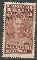 Belgian Congo - 1928 Henry Morton Stanley 40c MH *    SG 149  Sc 119 - Belgian Congo