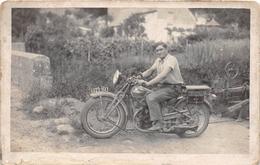 """¤¤  -  Carte-Photo D'un Motard Sur Une Moto """" PEUGEOT """" Dans Le Département """" LOIR Et CHER """"   -  ¤¤ - Motorbikes"""