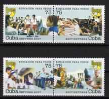 Cuba 2007 UPAEP EDUCACION PARA TODOS MNH Se-tenant - Unused Stamps