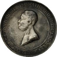 Cambodge, Médaille, Funérailles De S.M. Sisowath, 1928, SUP, Argent - Other