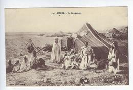 CPA Animée Algérie Biskra Un Campement N° 146 - Biskra