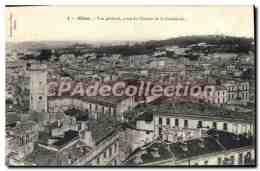 CPA Nimes Vue Generale Prise Du Clocher De La Cathedrale - Nîmes