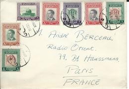 Lettre De Jordanie  Affranchie Avec Timbres< Royaume Du Jourdan> Du 20/12/64 - Marcophilie (Lettres)
