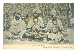 1906, India, Hindu Holy Men. Printed Pc, Used. - Religions & Beliefs