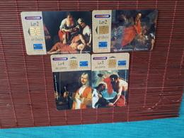 4 Phonecards Malta Only 10.000 EX Made Rare - Malta