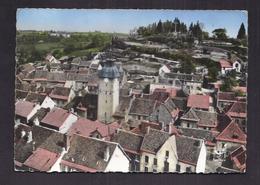 CPSM 63 - MONTAIGUT-en-COMBRAILLES - Le Beffroi - TB PLAN Aérien Du Centre Du Village Avec Détails Maisons 1964 - Montaigut