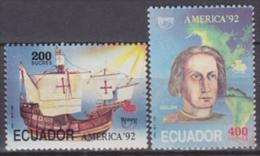 Ecuador 1992 Yvert 1252-53, America UPAEP, MNH - Equateur