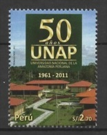 Peru (2011) Yv. 1901   /  University  - Universidad - Universite - UNAP - Nacional De La Amazonia Peruana - Peru