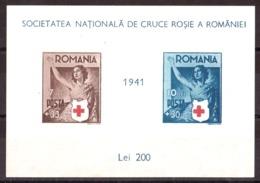 Roumanie - 1941 - BF N° 7 (non Dentelé, Non Gommé) - Croix-Rouge - Blocks & Sheetlets