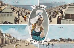 CPSM 9X14 . Souvenir De LANGRUNE (14) Multivues Dt  Plages Et Promenade - Other Municipalities