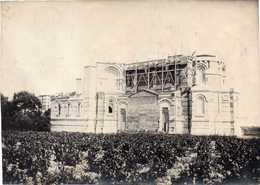 31 PIBRAC EGLISE DE SAINTE-GERMAINE Trés Animée (en Construction) Photo Sépia 1919 Décollée D'un Album Du TARN 17cmX12cm - Pibrac