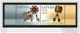LATVIA 2006 Jewellery Pair  MNH / **.  Michel 672-73 - Latvia