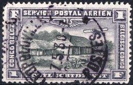 CONGO BELGA, BELGIAN CONGO, COLONIA BELGA, POSTA AEREA, AIRMAIL, 1921, FRANCOBOLLO USATO Michel 43   Scott C2 - Congo Belga