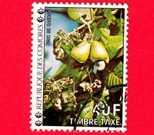 Isole COMORE - Usato - 1977 - Segnatasse - Taxe - Postage Due - Fiori - Cashews - Anacardi - 40 - Isole Comore (1975-...)