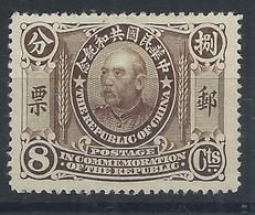 CHINA 1912 YUAN SHIHKAI 8c OG H MINT MI Cv 30 EUR - 1912-1949 Republiek