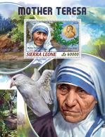 SIERRA LEONE 2018 MNH** Mother Teresa Mutter Teresa Mere Teresa S/S - IMPERFORATED - DH1824 - Mère Teresa