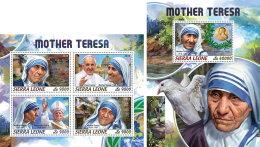 SIERRA LEONE 2018 MNH** Mother Teresa Mutter Teresa Mere Teresa M/S+S/S - IMPERFORATED - DH1824 - Mother Teresa